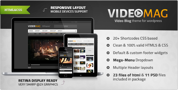ThemeForest VideoMag Powerful Video HTML Template 7979834