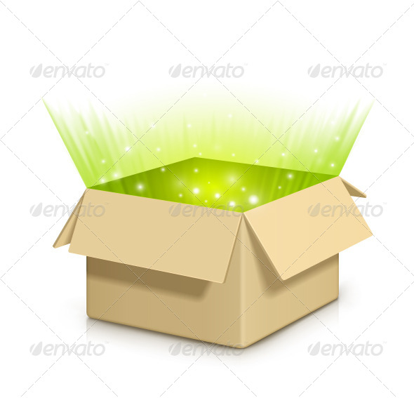 GraphicRiver Box with Something Inside 7979837