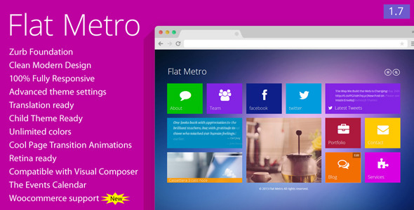 Flat Metro - Responsive WordPress Theme - Creative WordPress