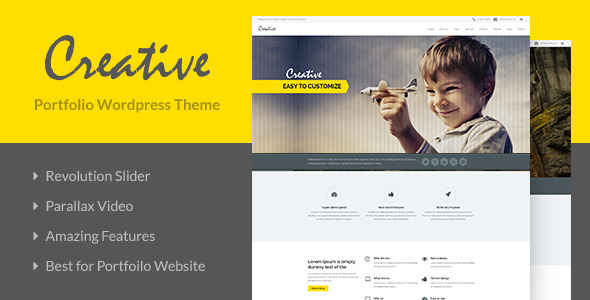 ThemeForest Creative OnePage Portfolio Wordpress Theme 7916852