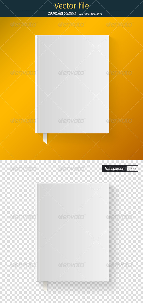 GraphicRiver Blank Book Cover with a Bookmark 7980107