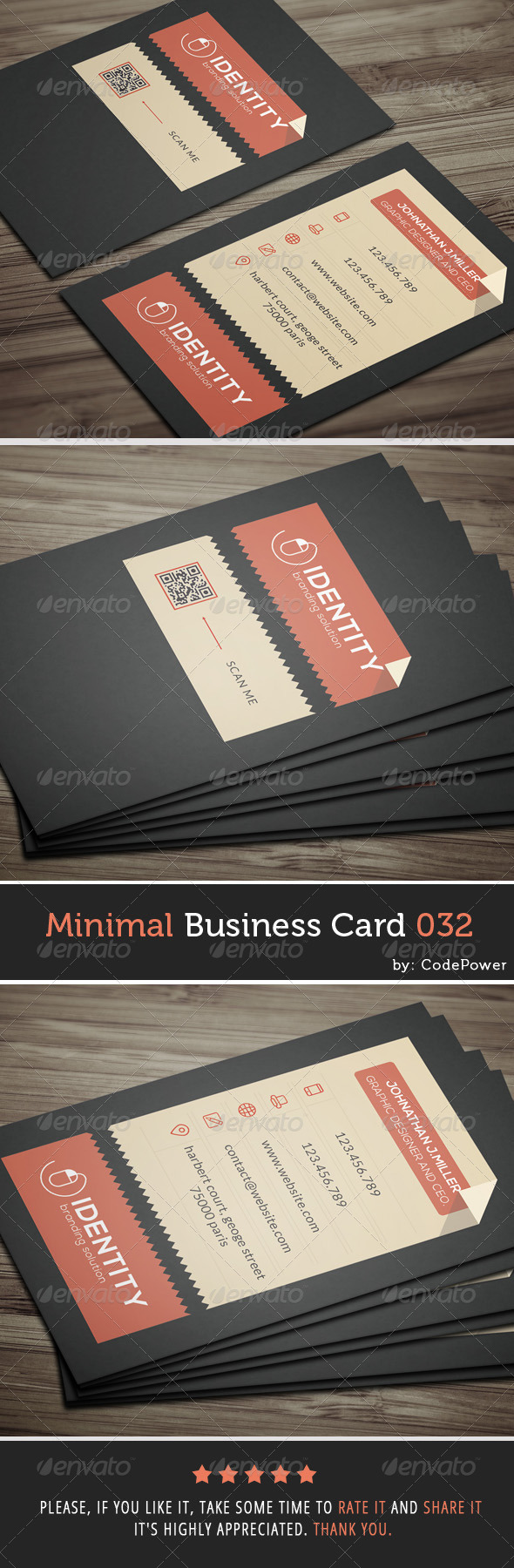 GraphicRiver Minimal Business Card 032 7980142
