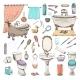 Bathroom Elements - GraphicRiver Item for Sale