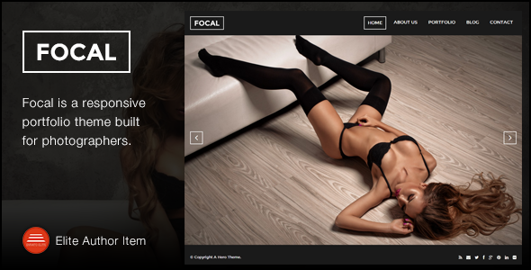 Focal - A Responsive Photography Theme