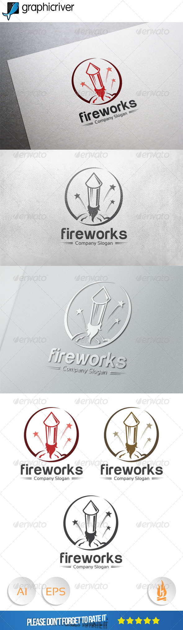 GraphicRiver Fireworks Logo 7980198