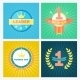 Flat Vector Winner Emblems - GraphicRiver Item for Sale