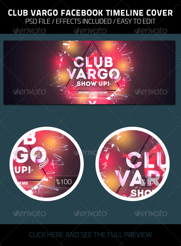 GraphicRiver Club Vargo Facebook Timeline Cover 7980691