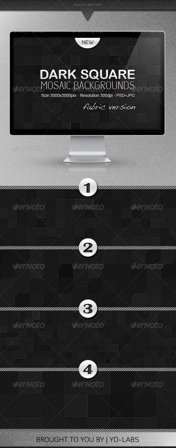 GraphicRiver Dark Square Mosaic Backgrounds 812841
