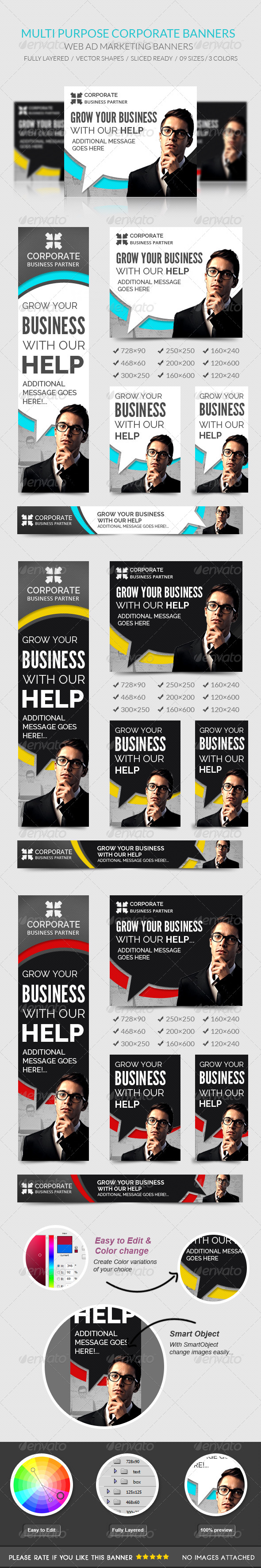 GraphicRiver Corporate Banners 7981256