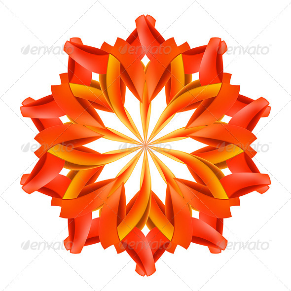 GraphicRiver Abstract Red and Orange Pattern 7981305