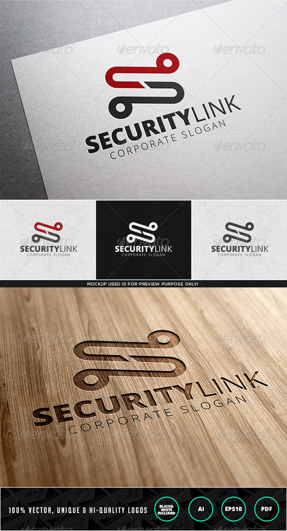 GraphicRiver Security Link Logo Template 7981312