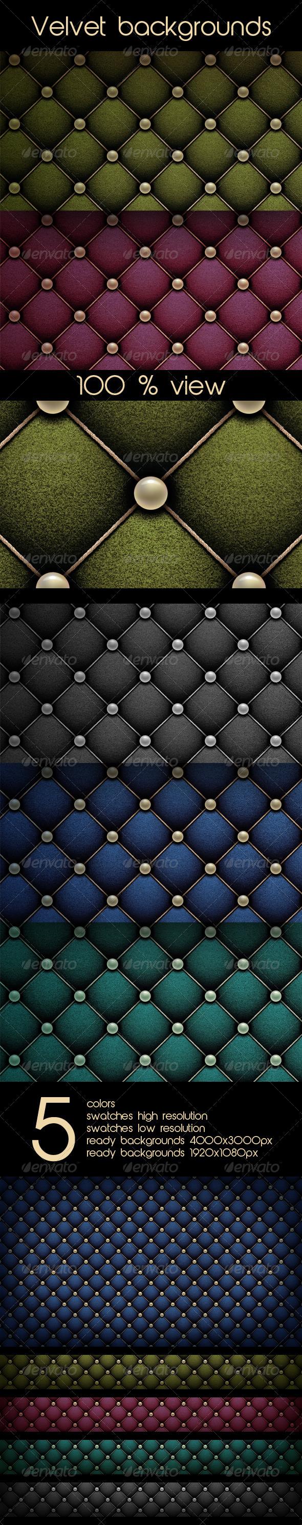 GraphicRiver Set of Velvet Backgrounds 7981345
