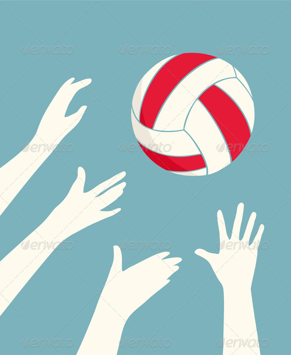GraphicRiver Hands Playing Volleyball 7981440