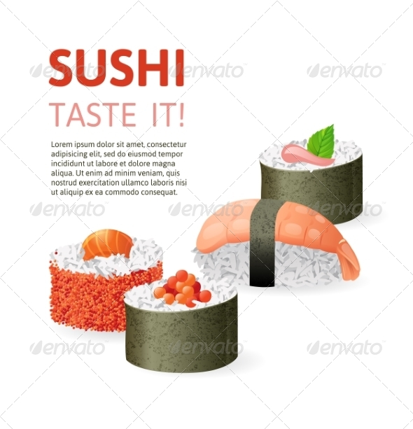 GraphicRiver Sushi Background 7981708