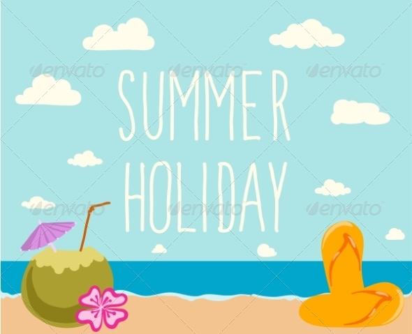 GraphicRiver Retro Elements for Summer Calligraphic Designs 7981714