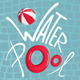 Water Pool with Inflatables Lettering Poster - GraphicRiver Item for Sale
