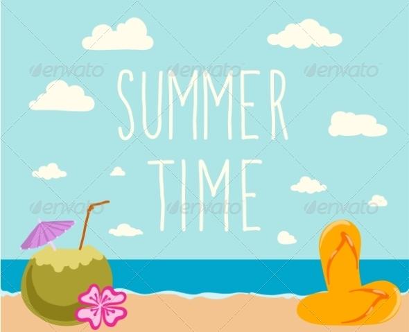 GraphicRiver Retro Elements for Summer Calligraphic Designs 7981737