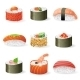 Sushi Icons Set - GraphicRiver Item for Sale