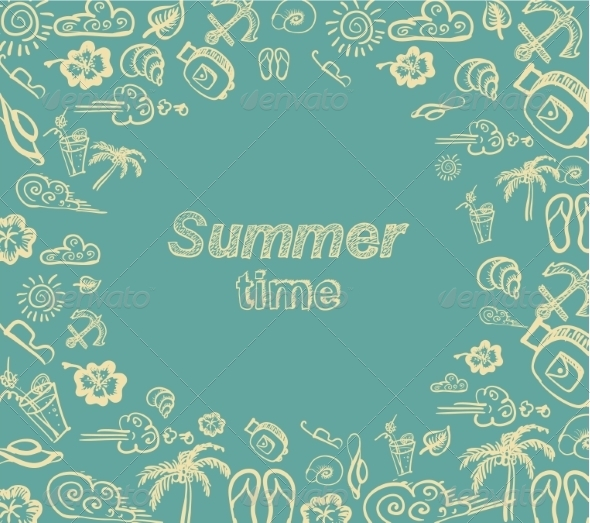 GraphicRiver Retro Elements for Summer Calligraphic Designs 7981849