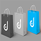 Shopping Paper Bag Mock Up