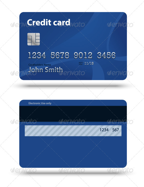 GraphicRiver Blue Creadit Card 7982048