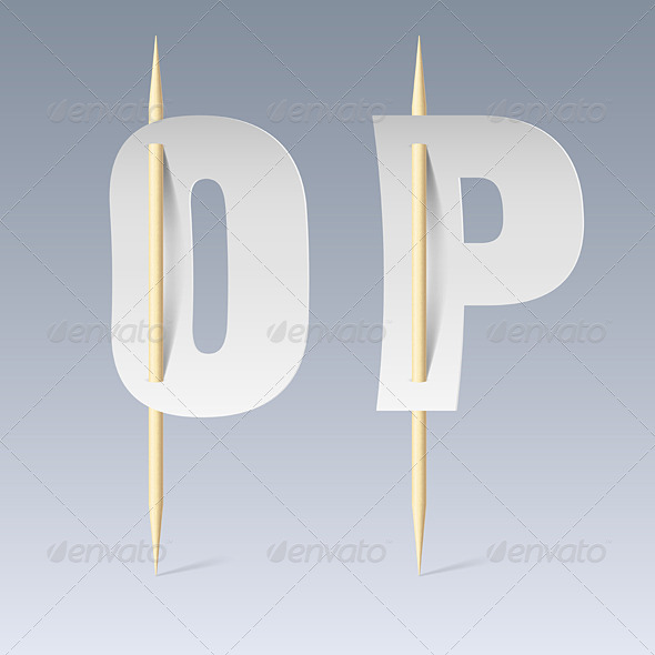 GraphicRiver Paper Font on Toothpicks 7982107