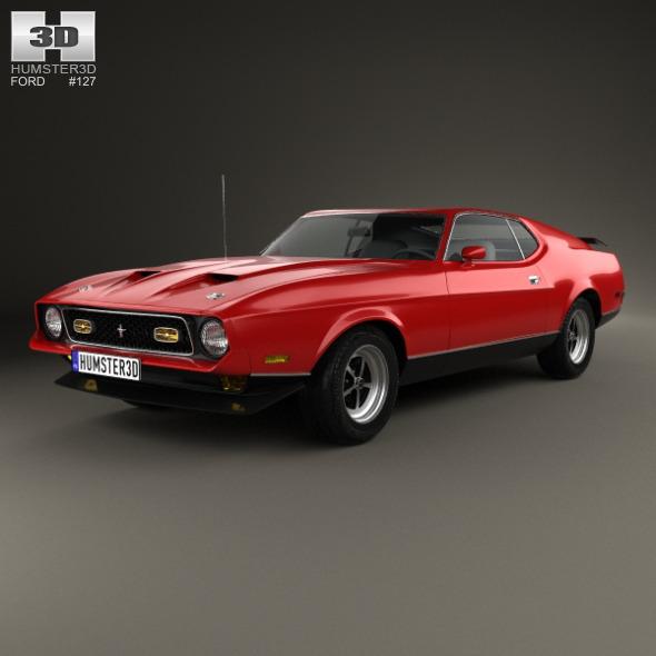 3DOcean Ford Mustang Mach 1 1971 7982136