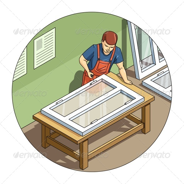 GraphicRiver Worker Making Window 7982366