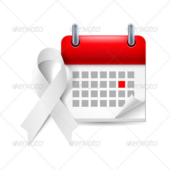 GraphicRiver Awareness Ribbon and Calendar 7982672