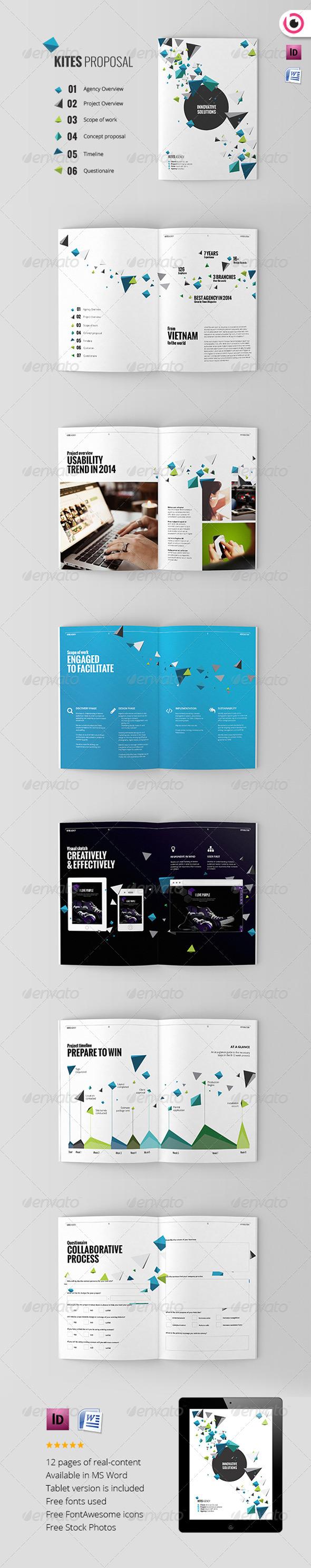 GraphicRiver Kites Unique Proposal Template 7955825