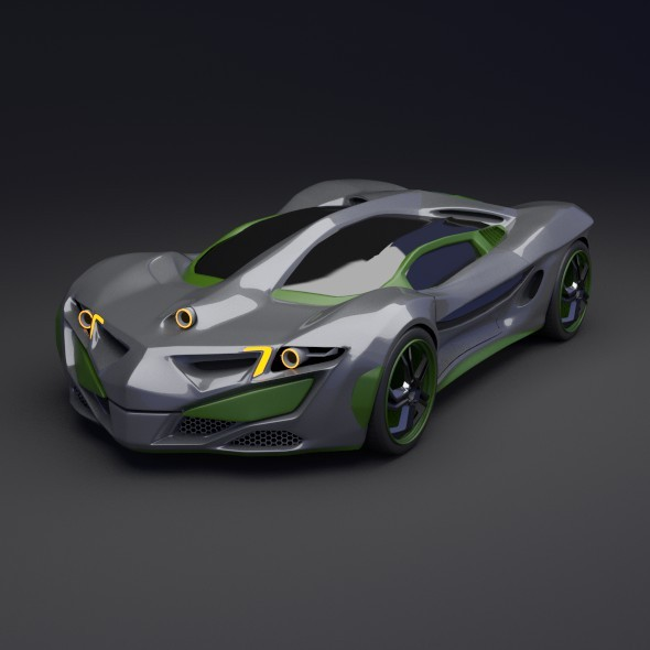 Rhinoster futuristic concept car - 3DOcean Item for Sale