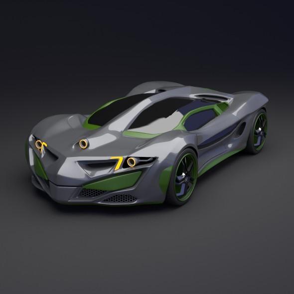 3DOcean Rhinoster futuristic concept car 7983021