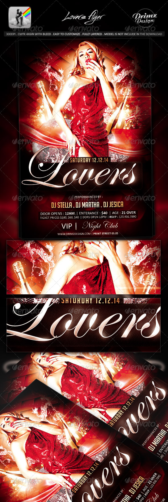 GraphicRiver Lovers Flyer 7983256