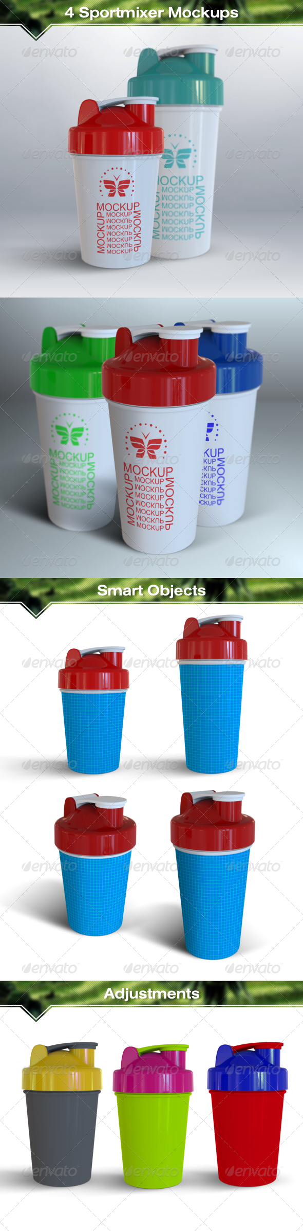 GraphicRiver Blender Bottle Sportmixer Mockups 7983632
