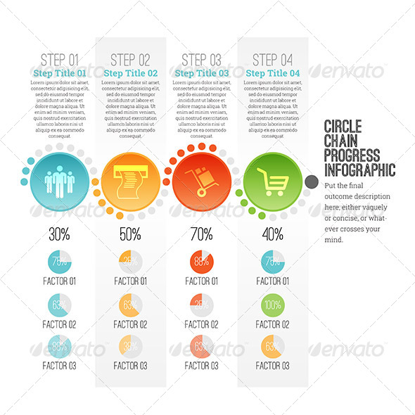 GraphicRiver Circle Chain Progress Infographic 7983970