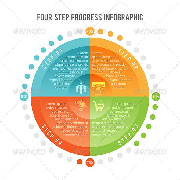 GraphicRiver Four Step Progress Infographic 7983977