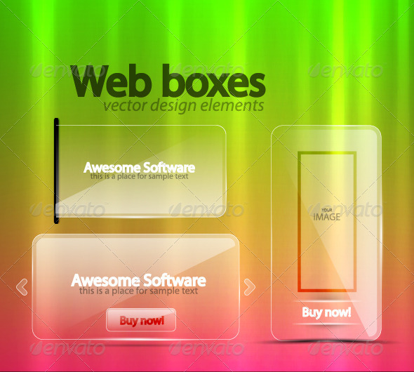 GraphicRiver Transparent Web Boxes 812996