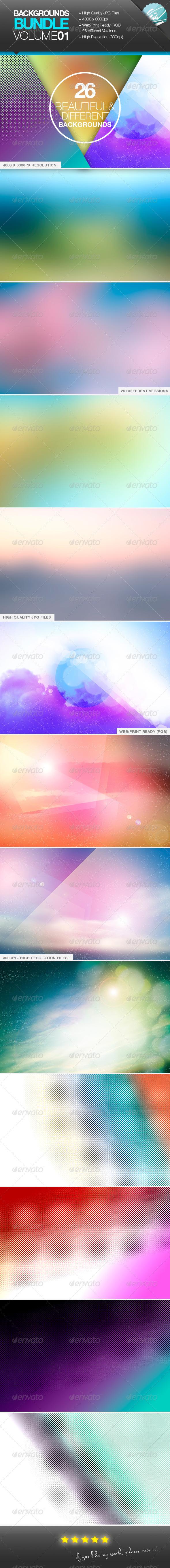 GraphicRiver Backgrounds Bundle Vol01 Dream Blurred Raster 7984094