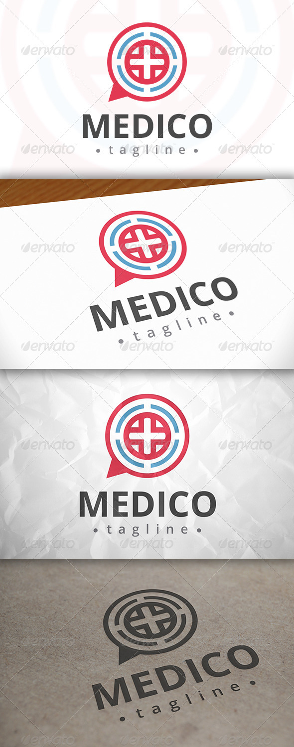 GraphicRiver Medic Chat Logo 7984151