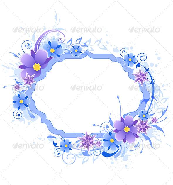 GraphicRiver Floral Frame 7984206