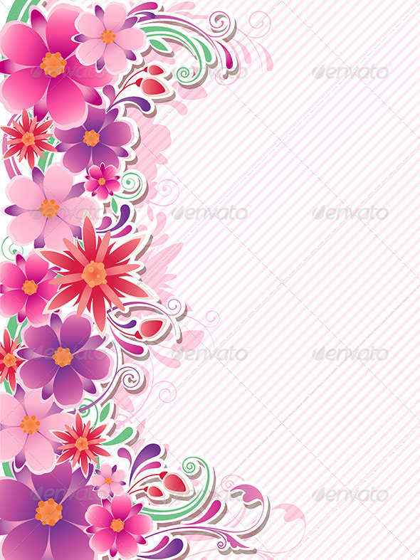 GraphicRiver Floral Background 7984435