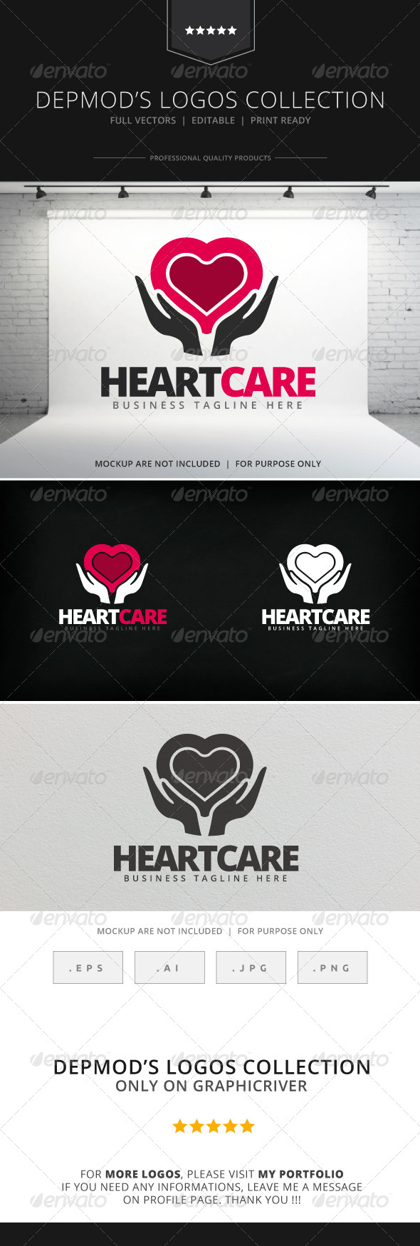 GraphicRiver Heart Care Logo 7985241