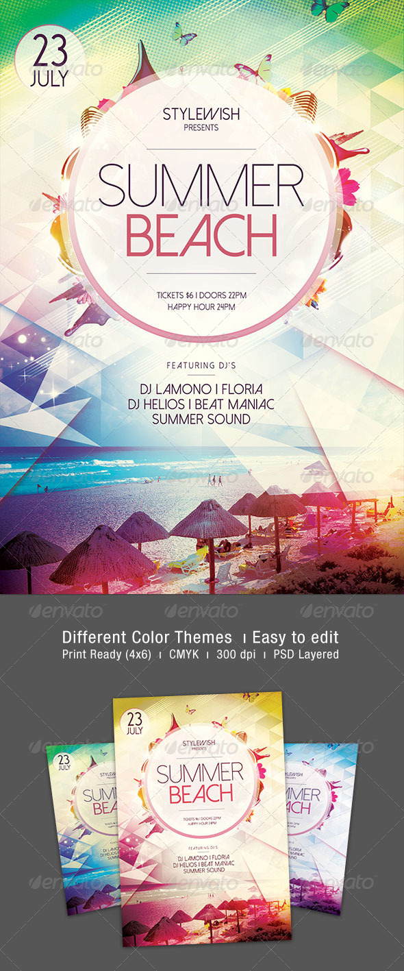 GraphicRiver Summer Beach Flyer 7985656