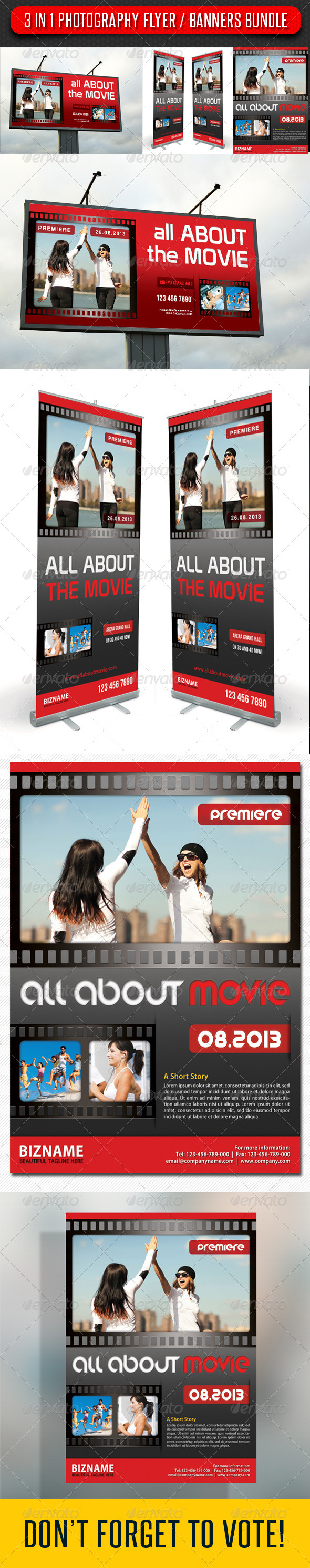 GraphicRiver 3 in 1 Photography Flyer and Banners Bundle 03 7985672