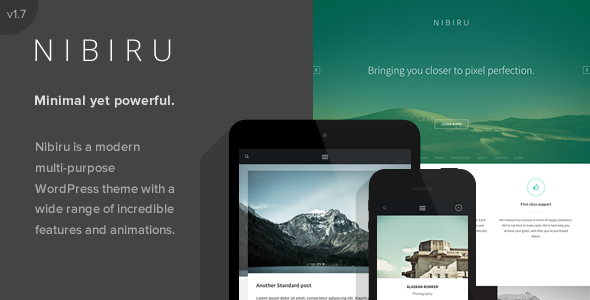 Nibiru - Multi-Purpose Responsive WordPress Theme - Corporate WordPress