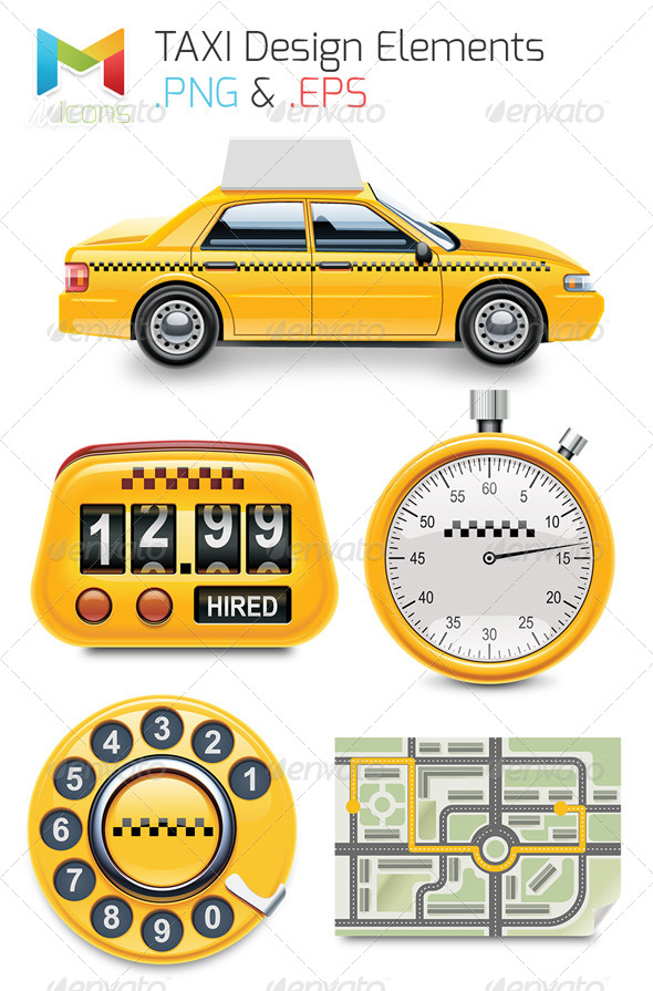 GraphicRiver Taxi Design Elements 7985776