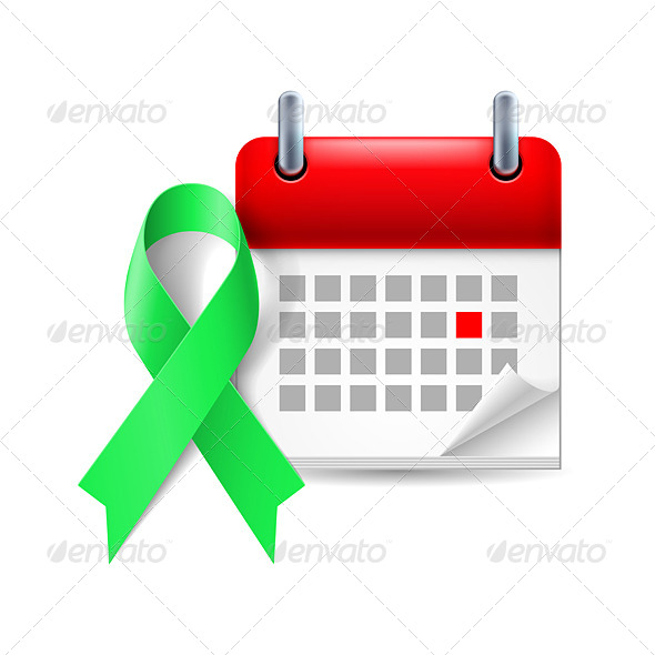 GraphicRiver Awareness Ribbon and Calendar 7985936