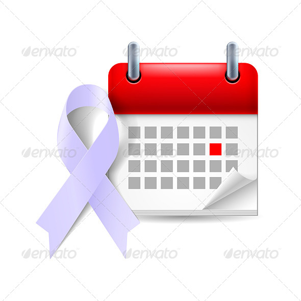 GraphicRiver Awareness Ribbon and Calendar 7985987