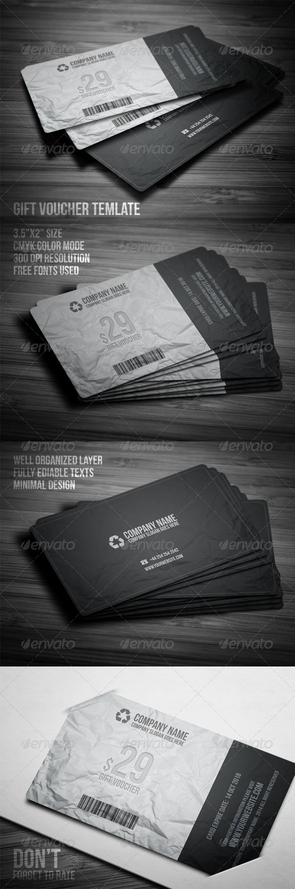 GraphicRiver Gift Voucher Card Template 7986046