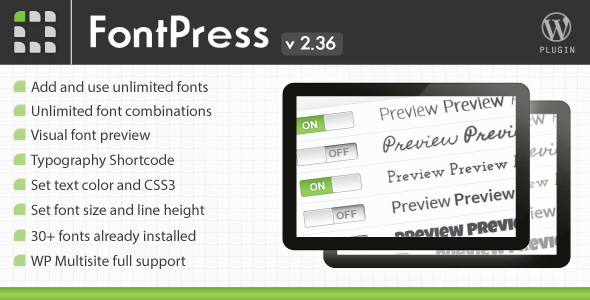 FontPress - Font Manager Plugin - CodeCanyon Item for Sale
